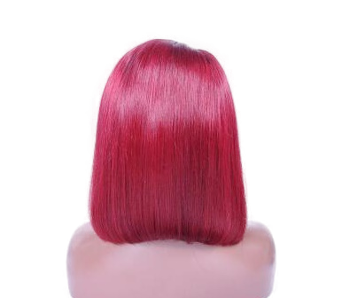 Alethea short red wig back view