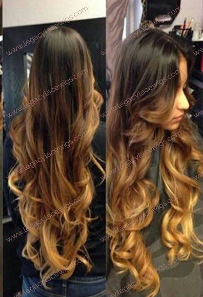 Austin Wig Ombre Long Curly
