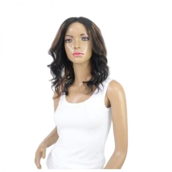Brooke Wig Curly Natural with Highlights