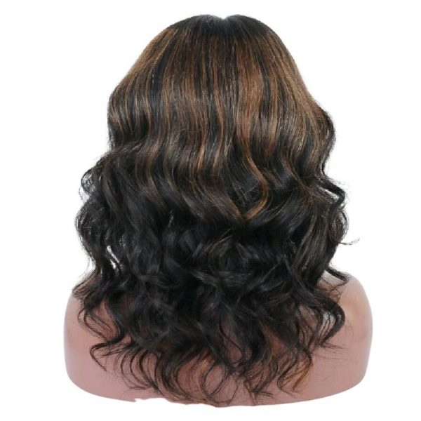 Brooke Wig Natural with Highlights Curly