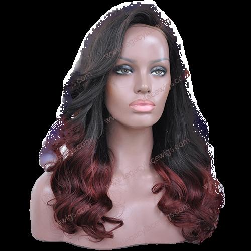 Burgundy Wig Curly