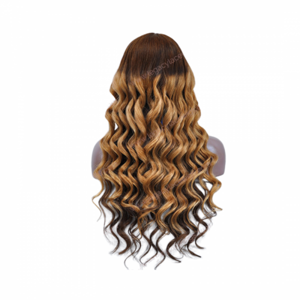 Diamond Long Wavy Wig Back View