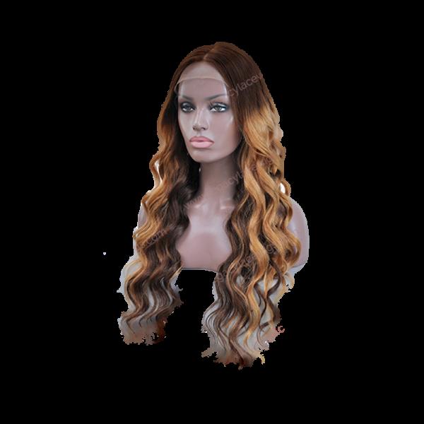 Diamond Long Wavy Wig Side View