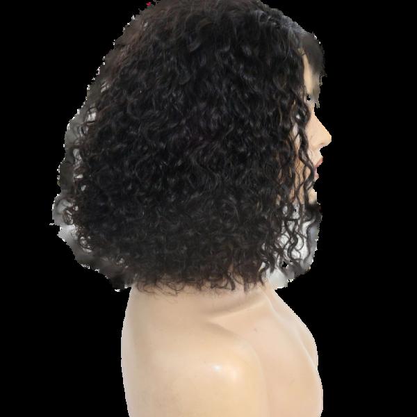 Pricilla Reign short curly natural wig profile