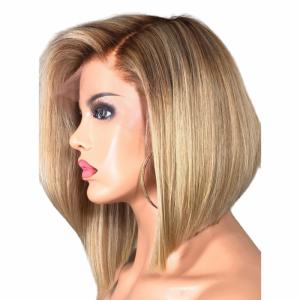 Rain short blonde straight wig