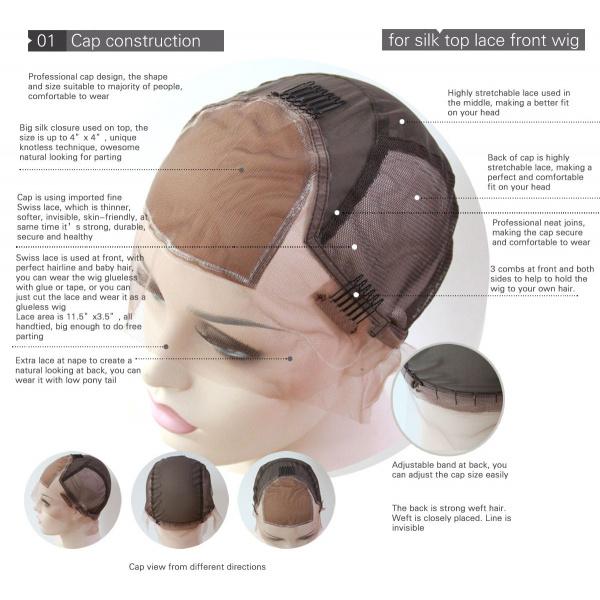 Silk Top Lace Front Wig Cap Construction