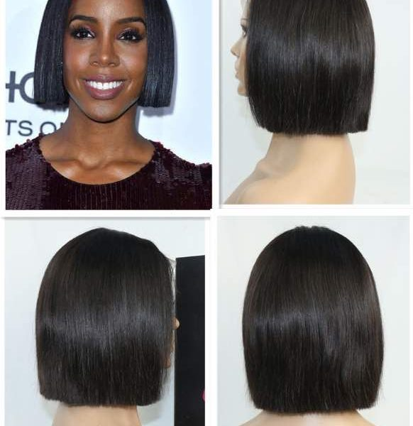 Kelly Roland short natural wig collage