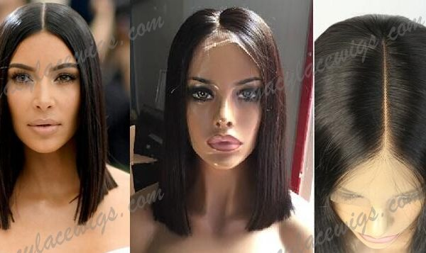 Kim Kardashian celebrity style wig comparison