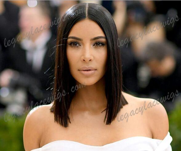 Kim Kardashian celebrity style wig