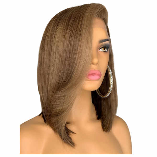 Kindel Straight wig natural ombre side view