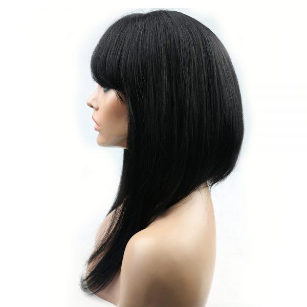 Minaj long wig with bangs profile