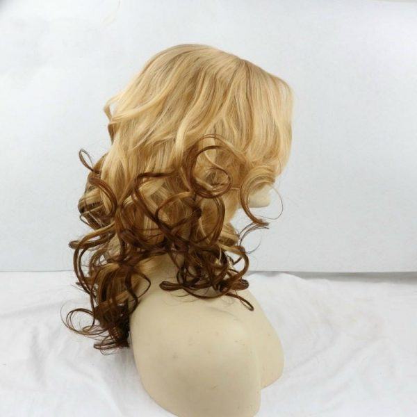 Olivia blonde to natural ombre wig profile