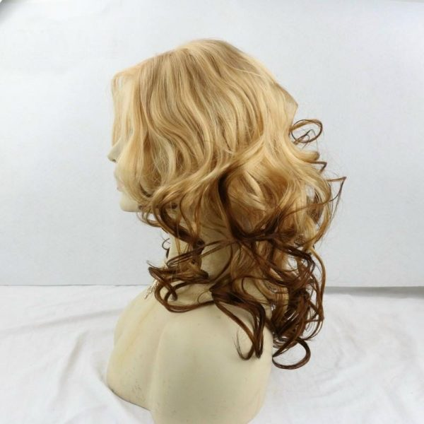 Olivia blonde to natural ombre wig side