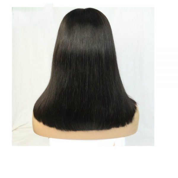 Queen long, straight wig back view