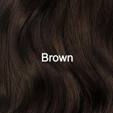 Brown hair sample