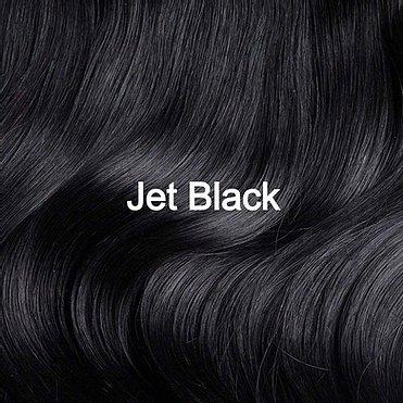 Jet Black Hair Sample